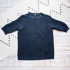 COS Ribbed Knit Crewneck Sweater Black Sz Small
